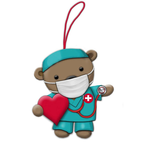 Kurt Adler Nurse Bear Ornament