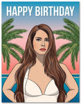 Lana Del Rey Birthday Card