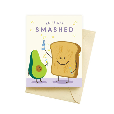 Let's Get Smashed Birthday Card