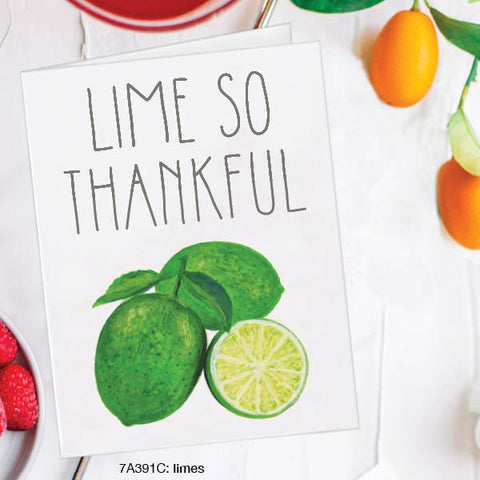 Lime So Thankful Card