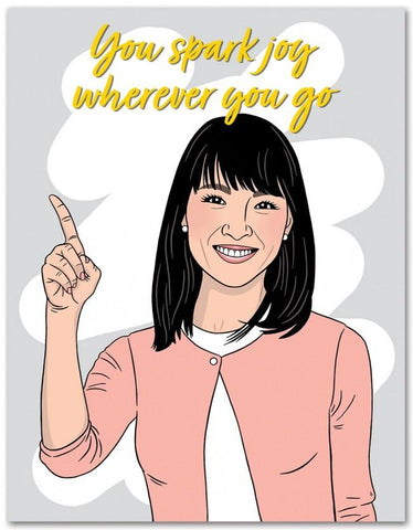Marie Kondo Spark Joy Birthday Card