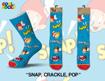 Mens Snap Crackle and Pop Crew Socks