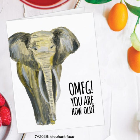 OMFG! You Are How Old? Card