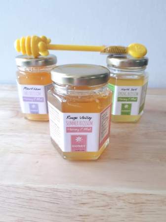 "Ontario Honey Trio Pack with Dipper for The ""Bees Knees"" Mama"