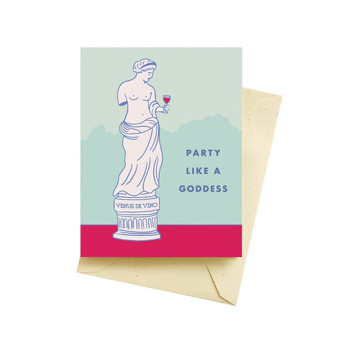 Party Like A Goddess Birthday Card