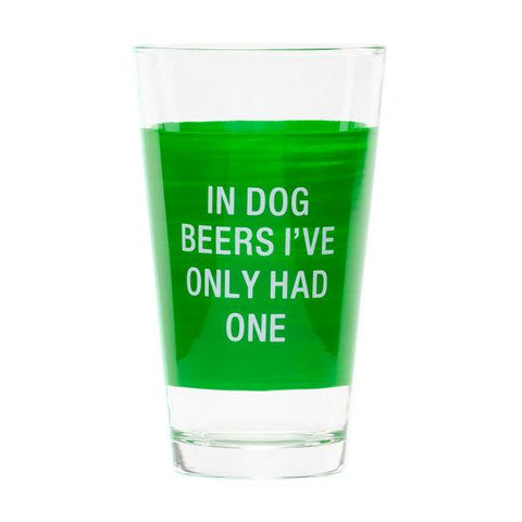 Pint Glass Dog Beers