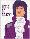 Prince Let's Go Crazy Birthday Card