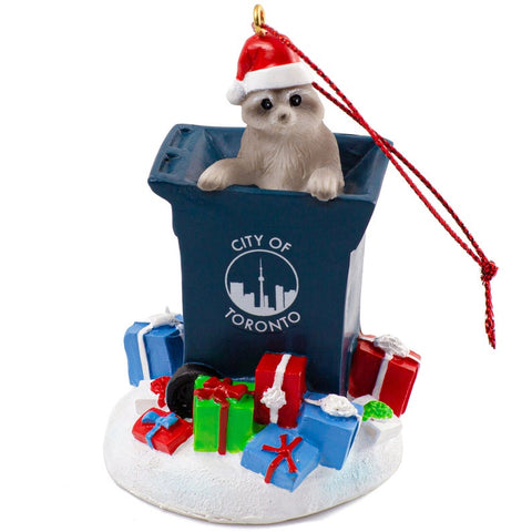 Raccoon Trash Ornament