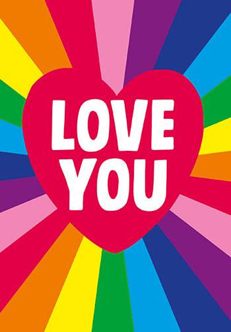 Rainbow Love You Valentines Card