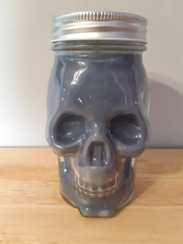 Smokey Grey Bourbon Skull Candle