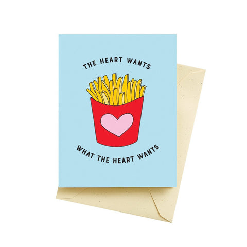 The Heart Wants What The Heart Wants Card