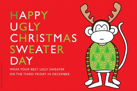 Ugly Christmas Sweater Day Postcard