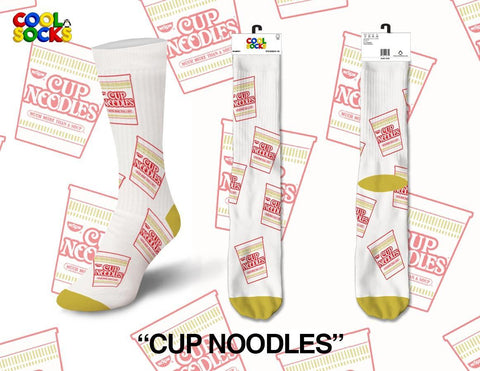 Womens Cup Of Noodles Crew Socks