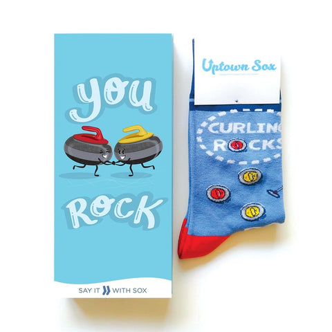 You Rock Greeting Card With Sock Combo