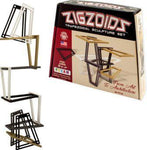 Example of ZigZoids construction next to ZigZoids box.