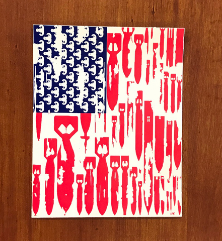 Bomb Flag Sticker