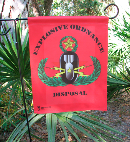 EOD Badge Garden Flag, Single Sided