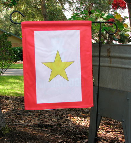 Gold Star Garden Flag, Double Sided