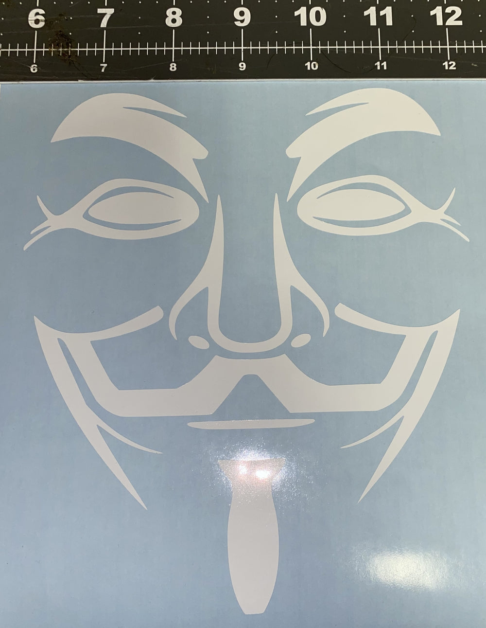 Fawkes Face Mask Decal