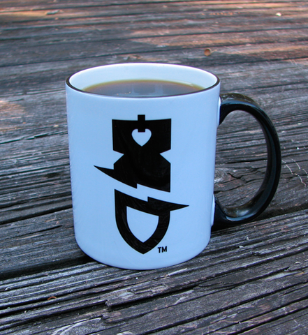 Black Handled Coffee Mug