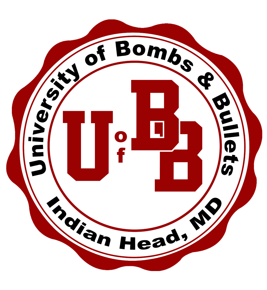 University of Bombs and Bullets Sticker
