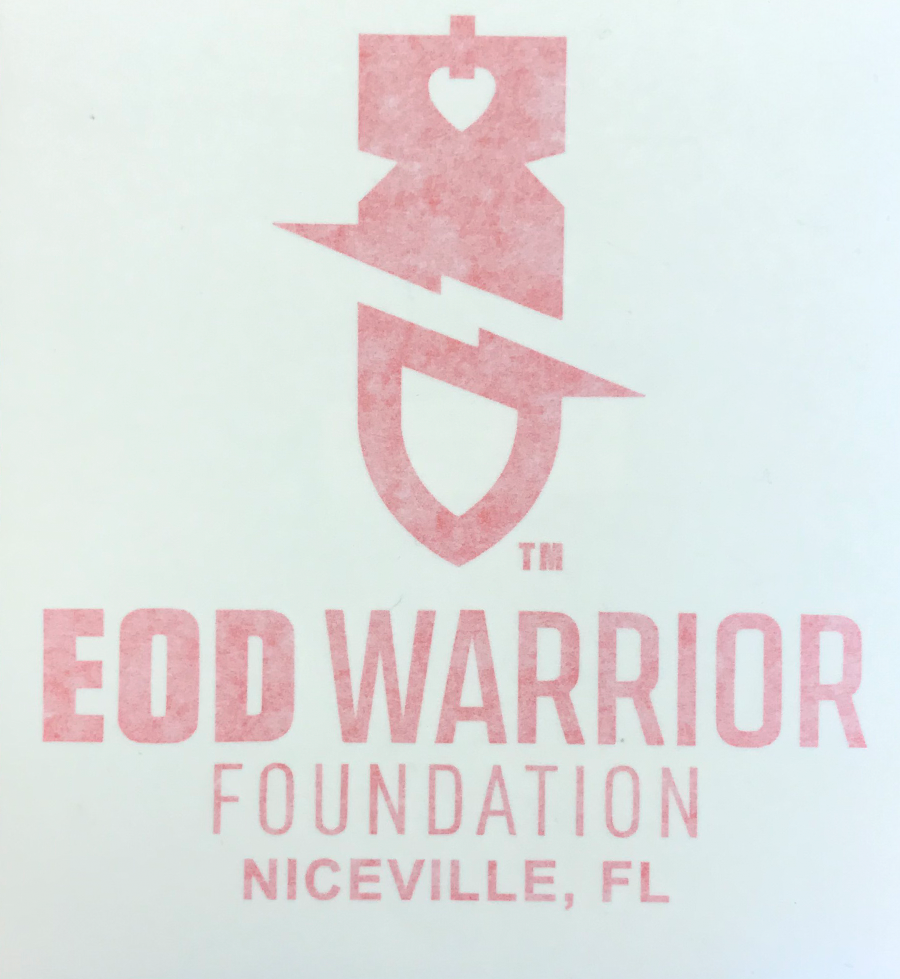 EODWF 'Bomb' Logo with Foundation Name Decal