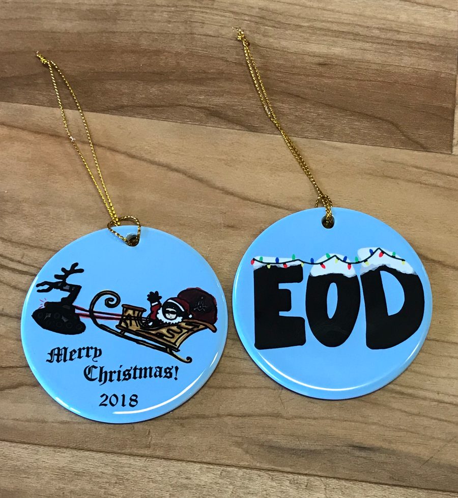 EOD Santa Ornament