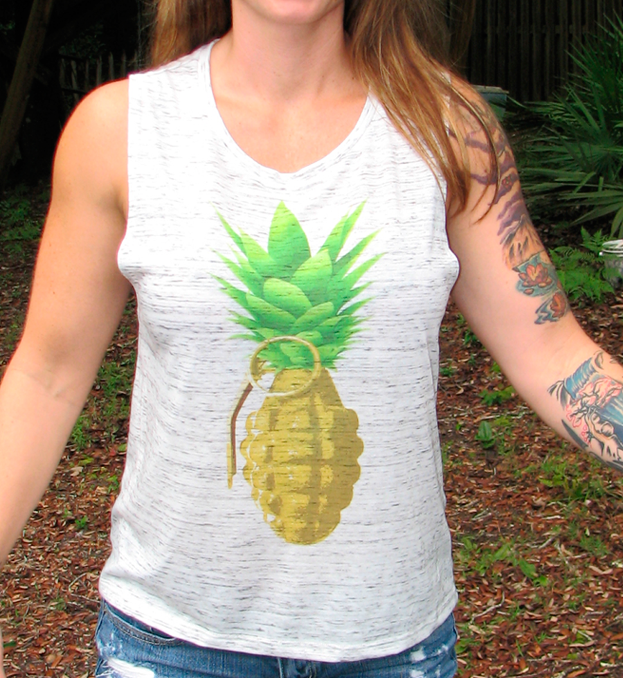 Pineapple Grenade Muscle Tank