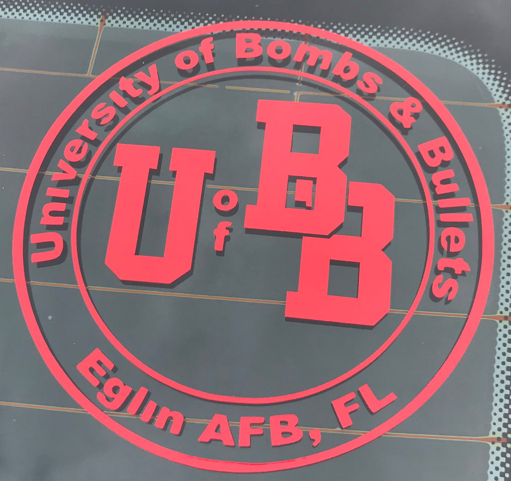 U of Bombs and Bullets Decal