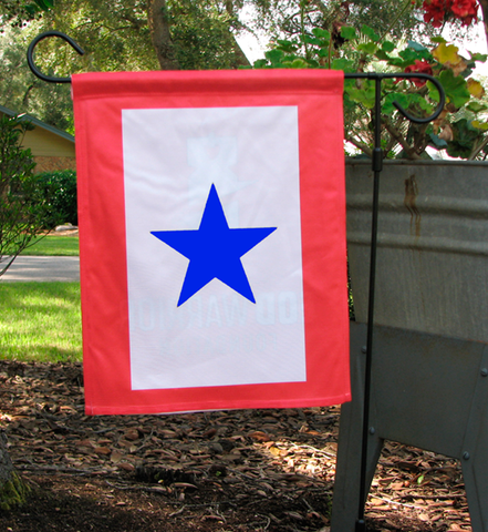 Blue Star Garden Flag, Single Sided