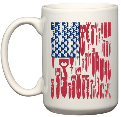 Coffee Mug, Bomb Flag 11oz