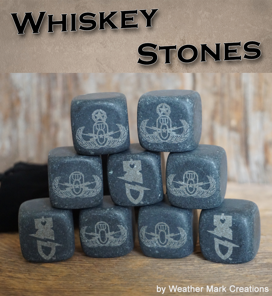 EODWF Bomb Logo Whiskey Stones Set of 9