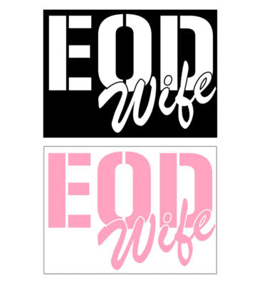 EOD Square MOM, DAD, or WIFE Decals