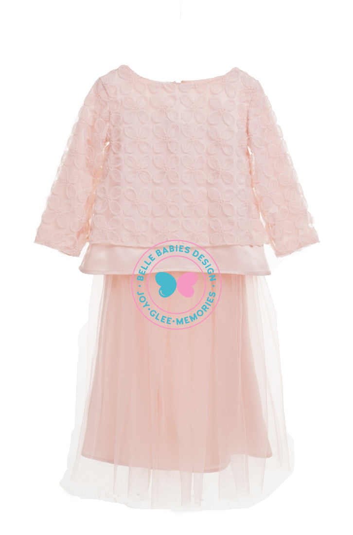 BBD Flower Lace Tulle Skirt - Peach Pink