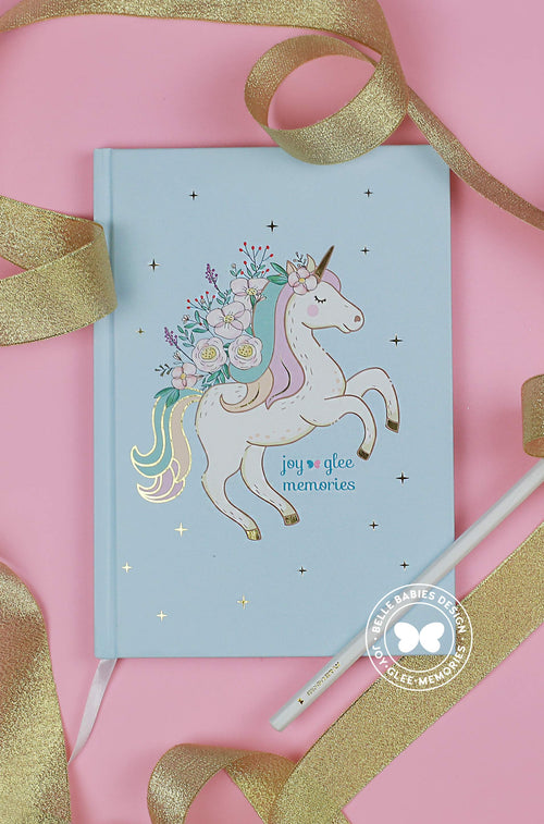 [Ready stock] BBD Unicorn Notebook (Frozen Blue)