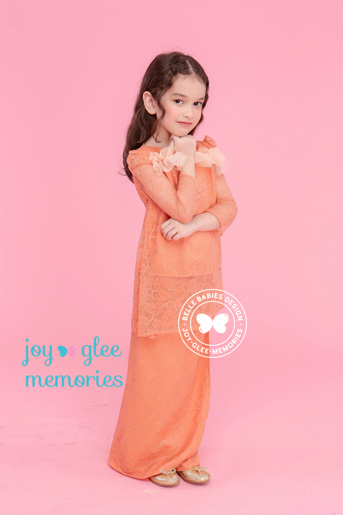 BBD Kurung Pahang (Full Lace) - Orange Brick