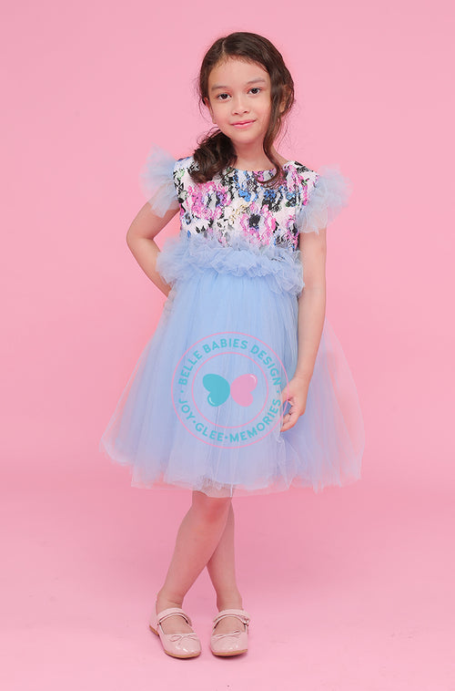 (NEW) BBD 1-Tier Tutu Ruffles - Blue
