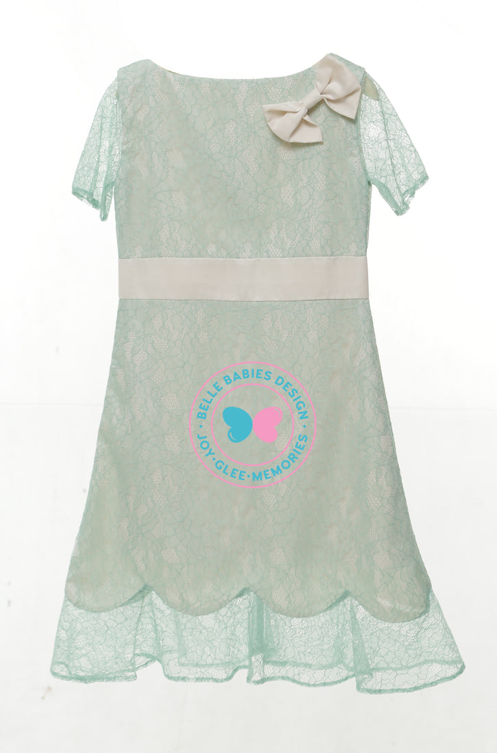 BBD Scallop Dress (lace) (knee-length) - Green