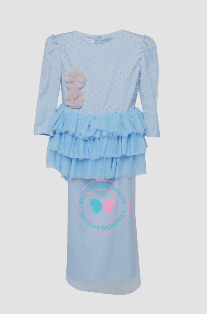 BBD Teens Tutu Dot - Baby Blue