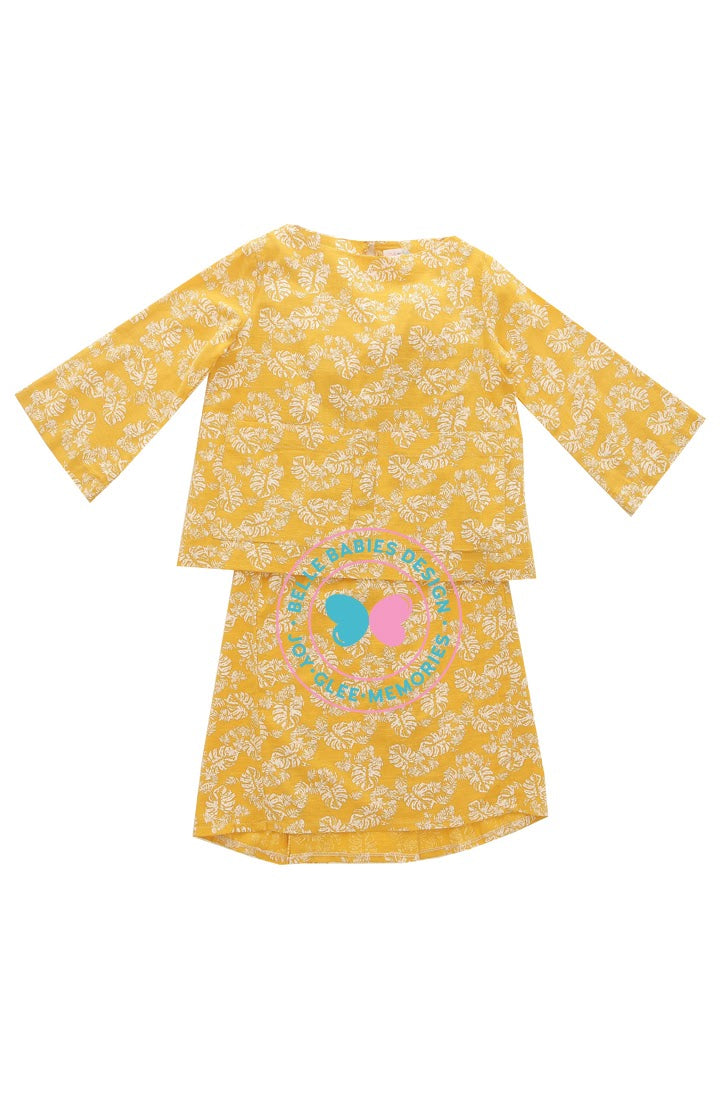BBD Big Pocket Kurung Kedah - Yellow Mustard