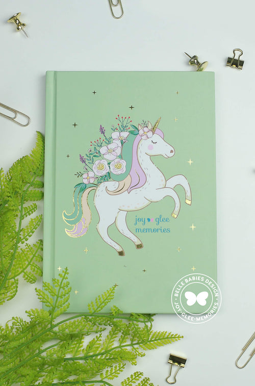 [Ready stock] BBD Unicorn Notebook (Tiana Green)
