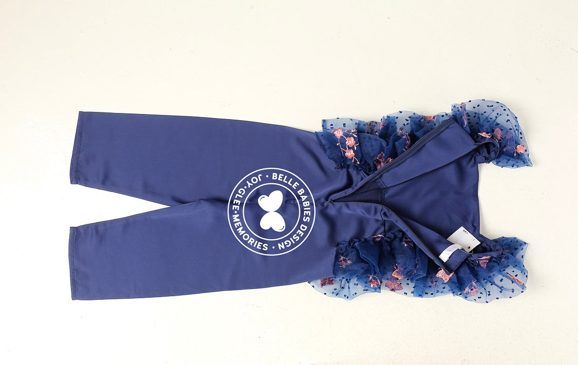 (NEW) BBD Playsuit Organza - Navy Blue