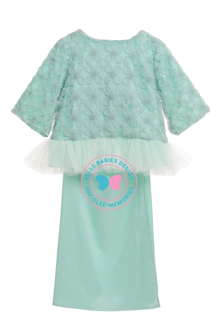 BBD Flower Lace Tutu - Mint Green