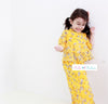 BBD High-Neck Kurung (Mustard Yellow) - Floral Prints