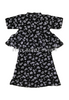BBD High-Neck Kurung (Black) - Floral Prints