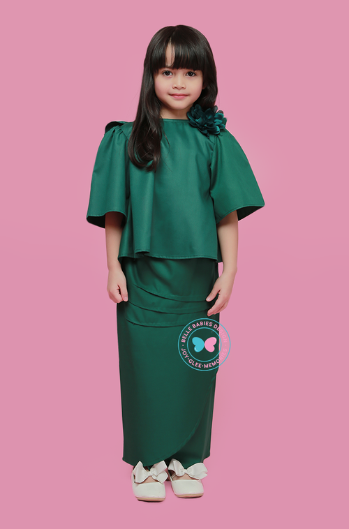 BBD Bareback Ruffles (Cotton)- Emerald Green