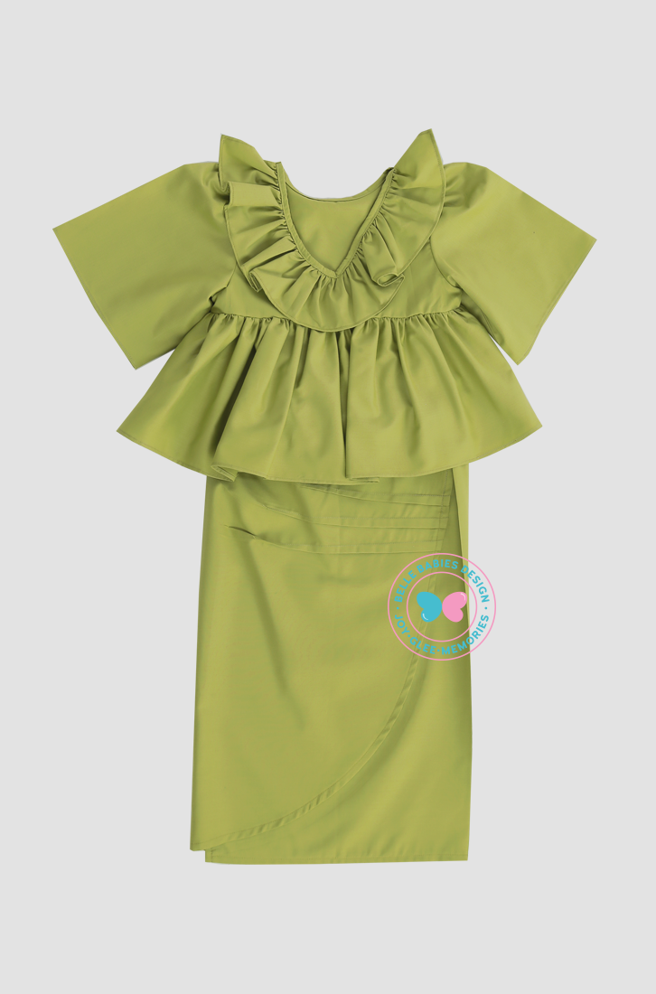 BBD Bareback Ruffles (Cotton)- Apple Green