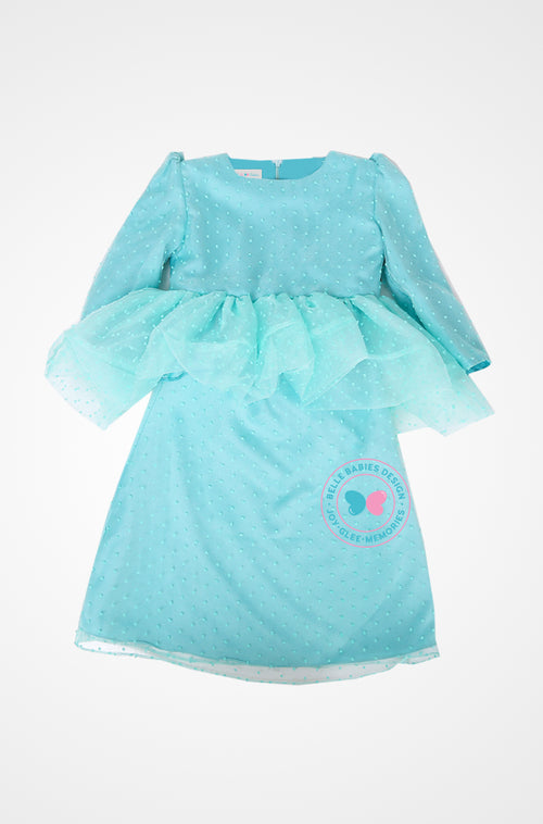 BBD Luxe Bubble Peplums  - Organza Dot (Mint Green)