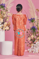 BBD Modern Kurung Lace (Kain Kipas) - Orange Brick