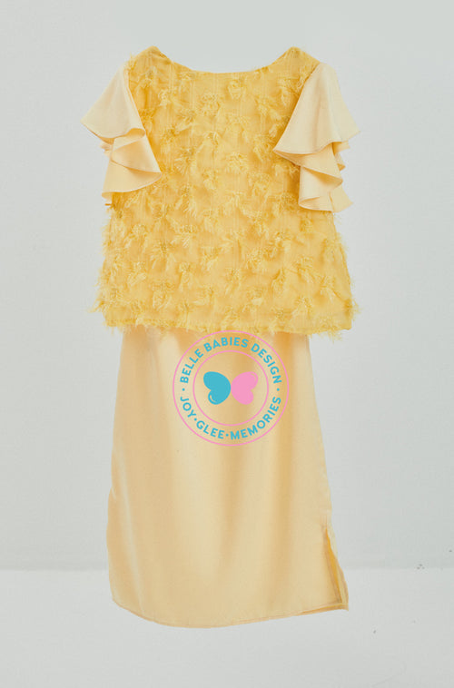 Modern Kurung Feathers (Yellow)